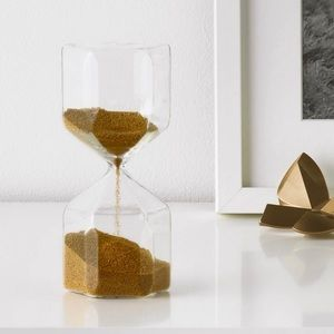 Gold Bead Hourglass